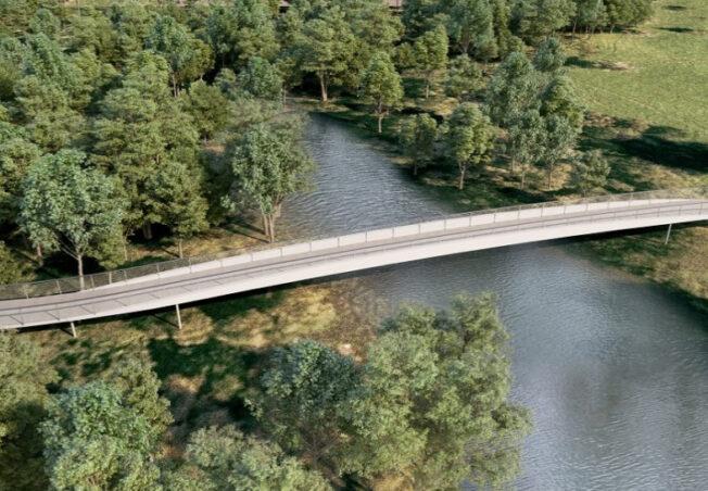 Radwegbrücke Rosenau